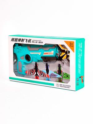 609-191 Игрушечное оружие с самолетиками Цвет: бирюзовый