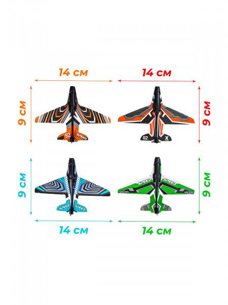 609-164 Игрушечное оружие с самолетиками Цвет: оранжевый