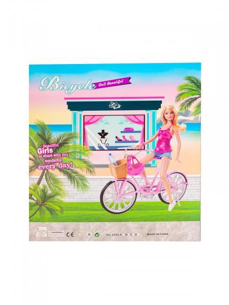 HTA-1140 Игровой набор  «Кукла на велосипеде» Цвет: голубой