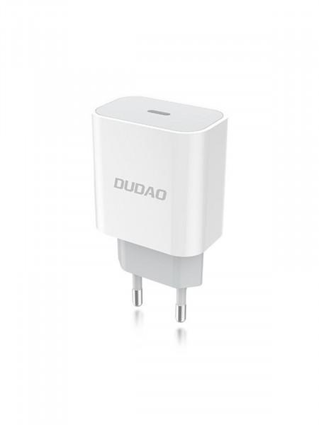 Сетевое зарядное устройство Dudao A8EU + кабель PD lightning