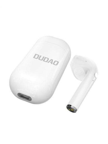 Беспроводная Bluetooth гарнитура DUDAO U10S с зарядным модулем, белый