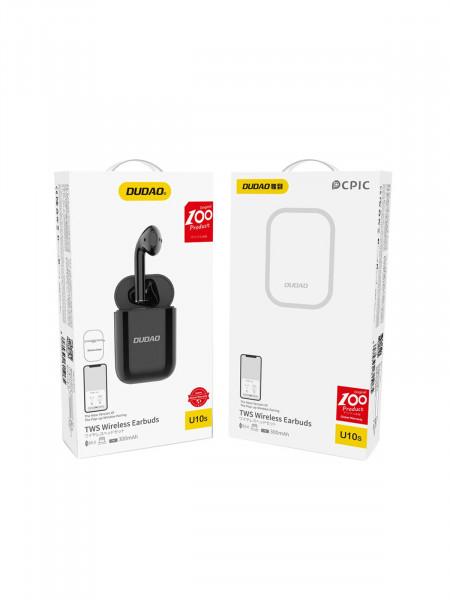 Беспроводная Bluetooth гарнитура DUDAO U10S с зарядным модулем, черный