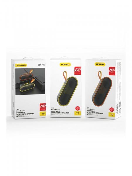 Портативная колонка DUDAO Bluetooth Y9, желтый