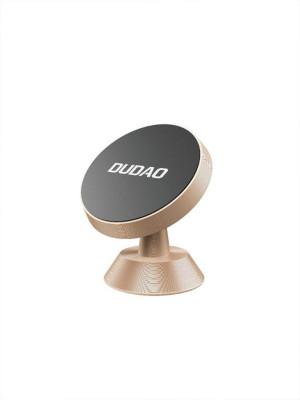 Автомобильный магнитный держатель универсальный для смартфона DUDAO F6H, золотой