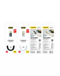 Растягивающийся кабель DUDAO L12 AUX mini jack 3,5 мм пружина
