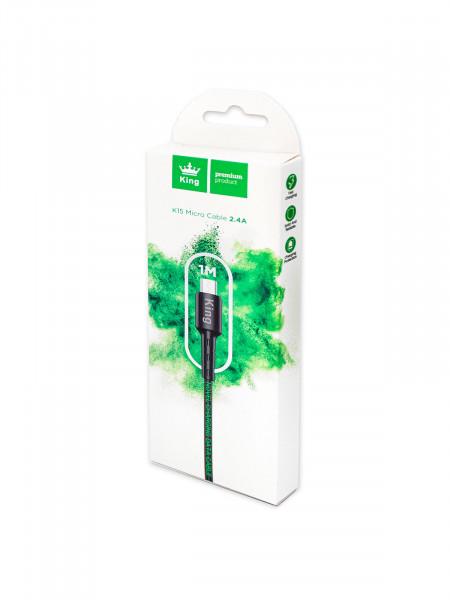 KING PREMIUM PRODUCT K15 Кабель Micro-USB для мобильных устройств