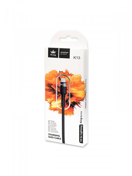 KING PREMIUM PRODUCT K13 Кабель lighting для мобильных устройств Apple
