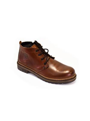 827МТ Ботинки мужские, моро, натуральная кожа, натуральный мех