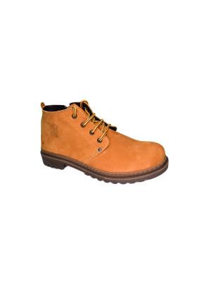 827МТН Ботинки мужские, орех, натуральный нубук, натуральный мех