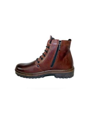 828МТ Ботинки мужские, моро, натуральная кожа, натуральный мех