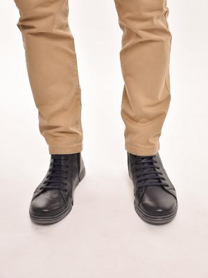 МБ201Т Ботинки мужские, синие, натуральная кожа, мех