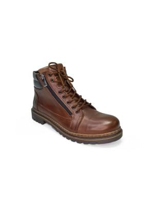МБА202МТ Ботинки мужские,моро,натуральная кожа,натуральный мех